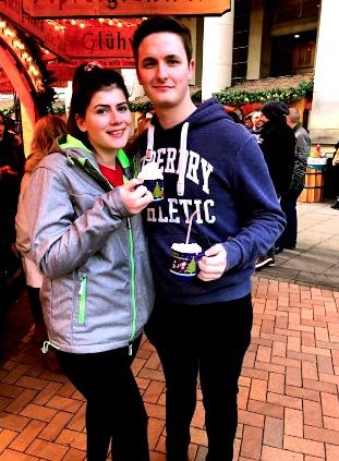 Me and Nathan Xmas market